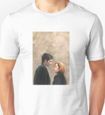 Kiss Already- X Files Mulder Scully MSR original painting T-Shirt