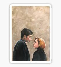 Kiss Already- X Files Mulder Scully MSR original painting Sticker