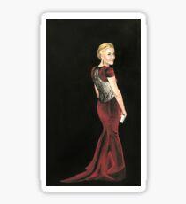 Gillian Anderson Original Painting 2017 Emmys Sticker