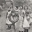 Young girls on a Victorian May day, 1886 by artfromthepast