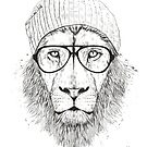 Cool lion (bw) by soltib