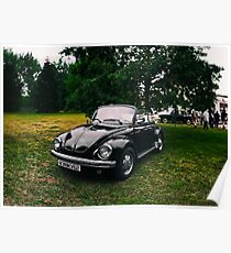VW Beettle Black - B&W Poster
