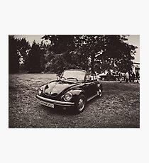 VW Beettle Black - B&W Photographic Print