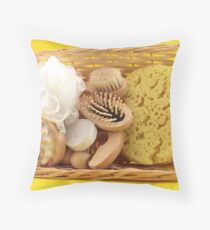 Body Care Products Set Throw Pillow