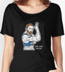 Artist Shirt - Funny Jean-Claude Van Damme Meets Vincent Van Gogh Shirt - Art shirt Women's Relaxed Fit T-Shirt