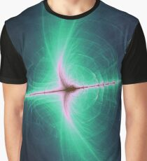 Galactic Psychedelic Black Hole Graphic T-Shirt