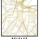 BELFAST UNITED KINGDOM CITY STREET MAP ART by deificusArt