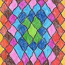 2402 - Farbenfrohes kleines Rautendesign von tigerthilo