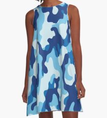 Water Camouflage A-Line Dress