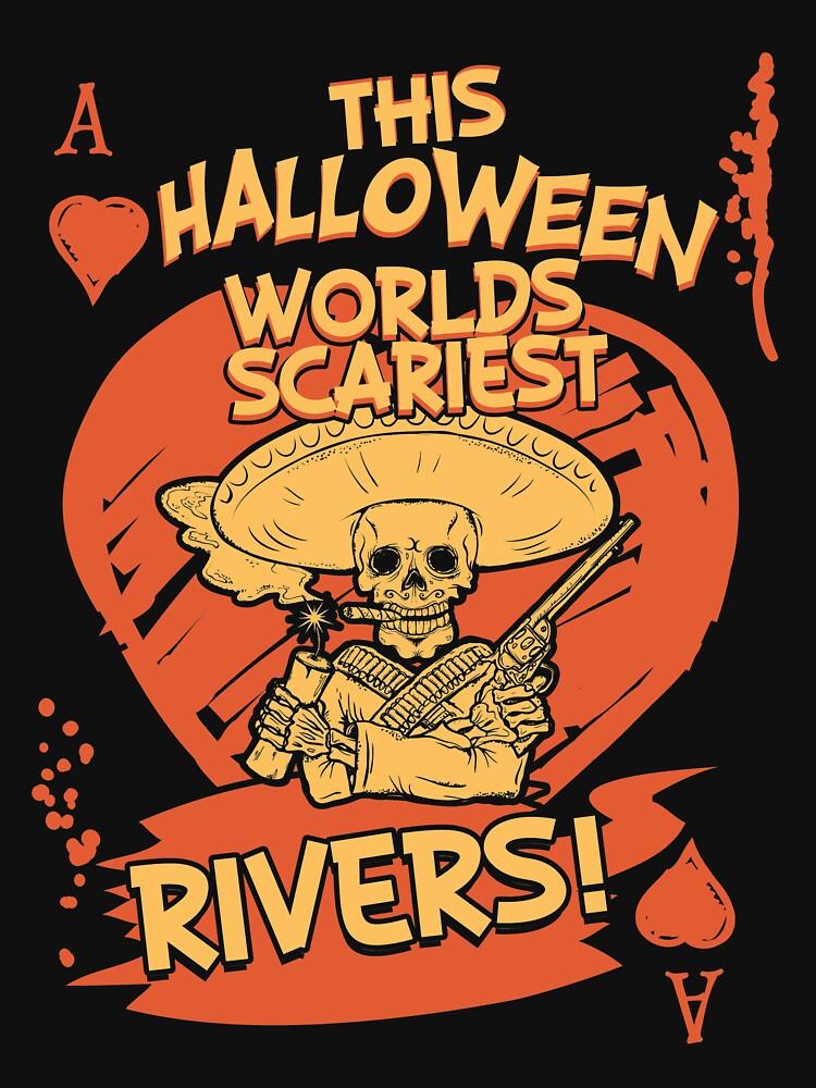 Halloween Poker T-Shirt - Worlds Scariest Rivers! by sedderzz
