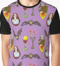 Vampire Halloween seamless pattern. Graphic T-Shirt