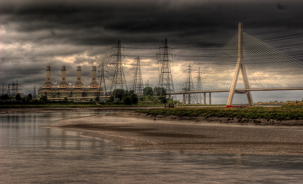 Connah's Quay Power Station and the Dee Bridge by Ann-Marie Metcalfe