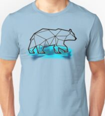 Origami Ours Minimaliste sur banquise / Origami Bear on icefloe T-Shirt