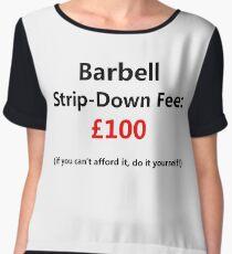 Barbell Strip-Down Fee Chiffon Top