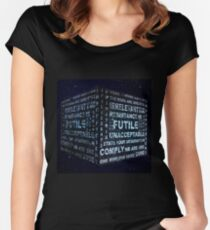 Borg Cube Women's Fitted Scoop T-Shirt