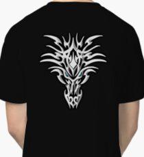 SERIOUS, TRIBAL, DRAGON, FACE, ON BLACK Classic T-Shirt