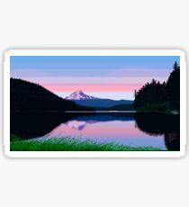 Morning Mountain Lake Sticker