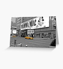 NYC Yellow Cabs Mamma Mia Greeting Card