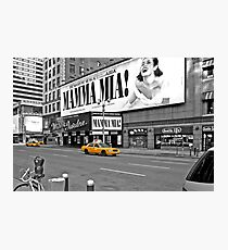 NYC Yellow Cabs Mamma Mia Photographic Print