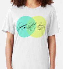 Keytar Platypus Venn Diagram 2 Slim Fit T-Shirt