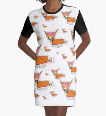 Lots of Foxes by Thomas Graphic T-Shirt Dress