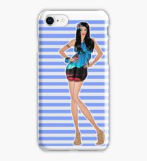 Fashion Girl Tropical iPhone Case/Skin