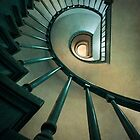 Wooden spiral staircase  by JBlaminsky
