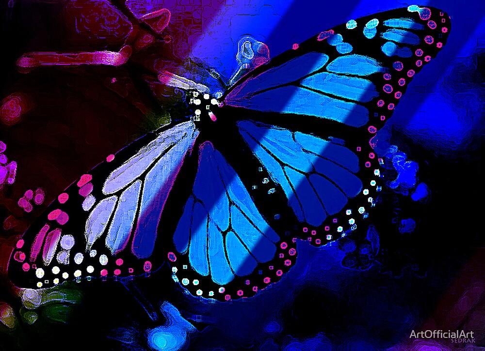 Butterfly Blue by ArtOfficialArt