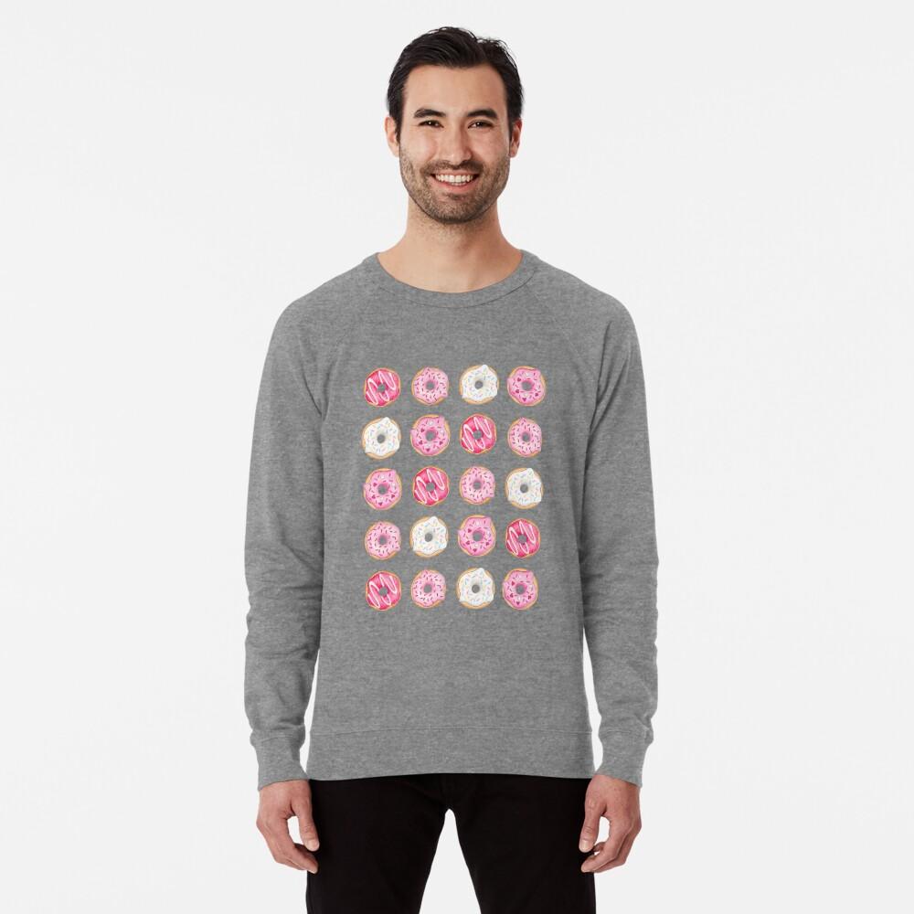 Pink Iced Donuts Pattern Lightweight Sweatshirt