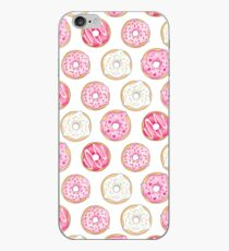 Pink Iced Donuts Pattern iPhone Case