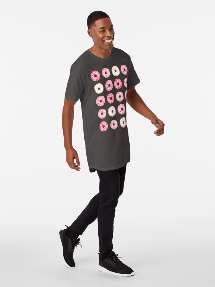 Alternate view of Pink Iced Donuts Pattern Long T-Shirt