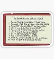 Rick and Morty – Scenario 4 Instructions Sticker