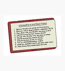 Rick and Morty – Scenario 4 Instructions Photographic Print