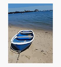 Beached Dingy Photographic Print