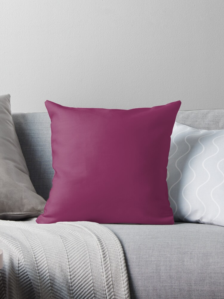 SOLID |PLAIN | DARK RASPBERRY |PINK HUES by ozcushions