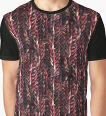 Crochet Blood Red Graphic T-Shirt