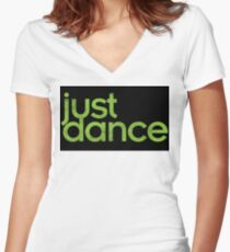 Just Dance! Women's Fitted V-Neck T-Shirt