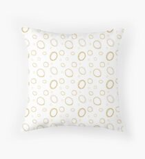 Sea Bubbles - White and Mustard Throw Pillow