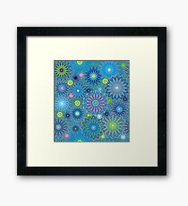Abstract geometry of lines and stars. Framed Print