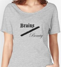 Brains Over Beauty Women's Relaxed Fit T-Shirt