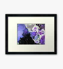 abstract stormy mountain, purple 09/12/17 Framed Print