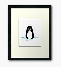 Penguin Cartoon Framed Print