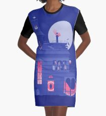 Cursed Residence Graphic T-Shirt Dress