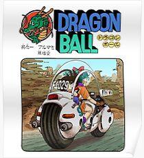 Bulma and Son Goku (Style 3, AKA OG) Poster