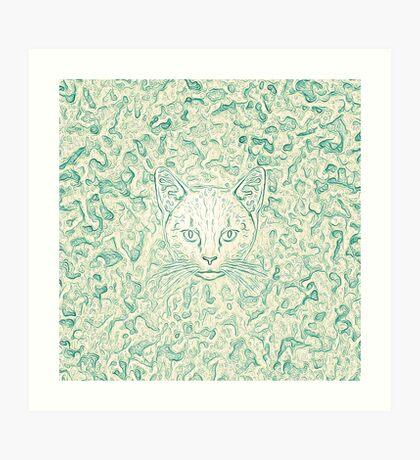 Cold—Warm Cat Art Print