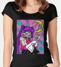 Dia de los Muertos Sailor Moon Women's Fitted Scoop T-Shirt