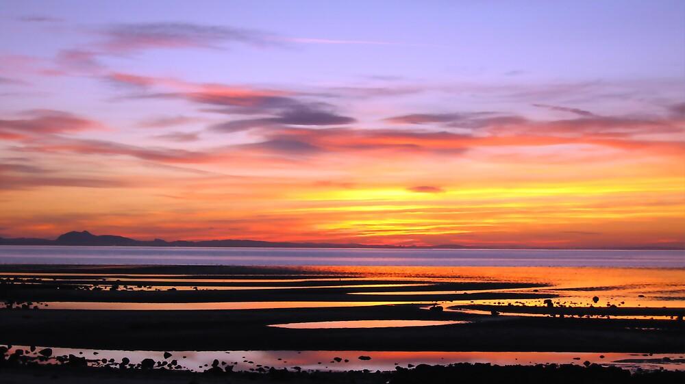 Aberlady Bay Sunset Original by bluefinart