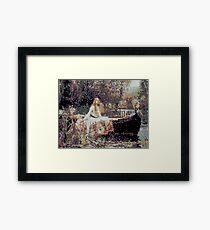 Glitch Waterhouse Lady of Shallot Framed Print