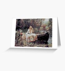 Glitch Waterhouse Lady of Shallot Greeting Card