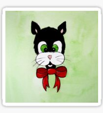 Tuxedo Cat Cartoon Sticker